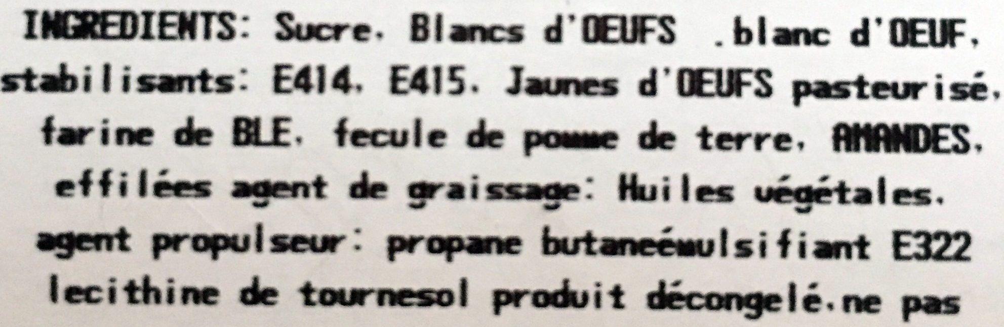 Biscuit de Savoie - Ingrédients