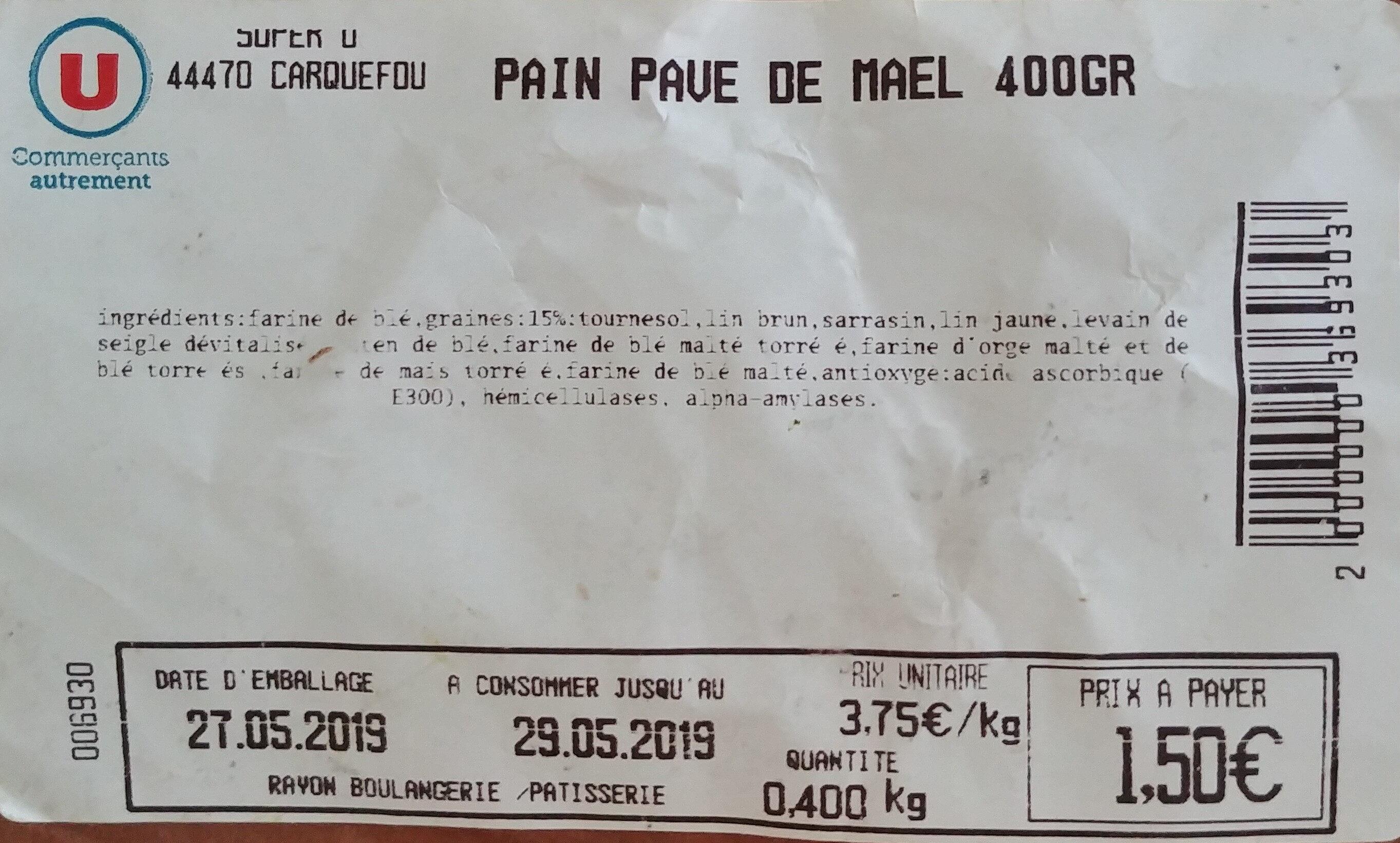 pain pavé de mael - Produit - fr