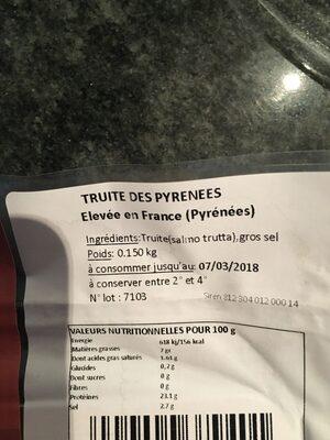 Truite fumee - Ingrédients - fr
