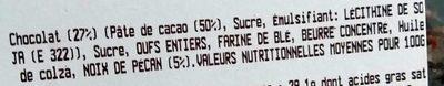 Brownies x5 décongelés - Ingrédients - fr
