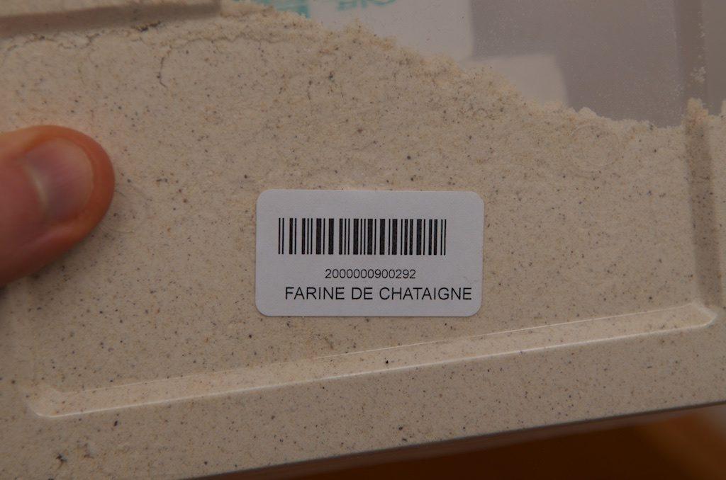 Farine de Châtaigne Bio - Informations nutritionnelles
