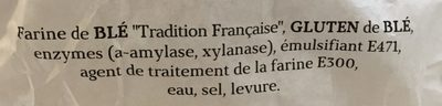 Baguette - Ingrédients - fr