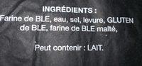Baguette tradition - Ingredienti - fr