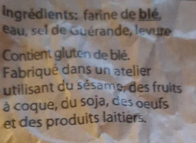 baguette à l'ancienne - Ingrediënten
