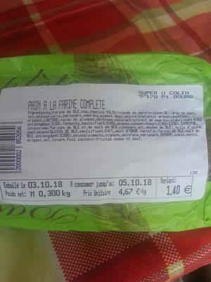 Pain à la farine complète - Produit