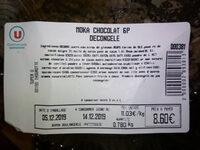 Moka Chocolat 6P Décongelé - Ingrédients