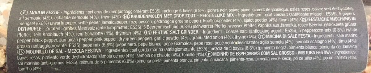 Sel Festif - Ingredients