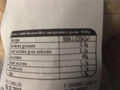 Lot de petit pain rond 10+1 gratuit - Informations nutritionnelles - fr