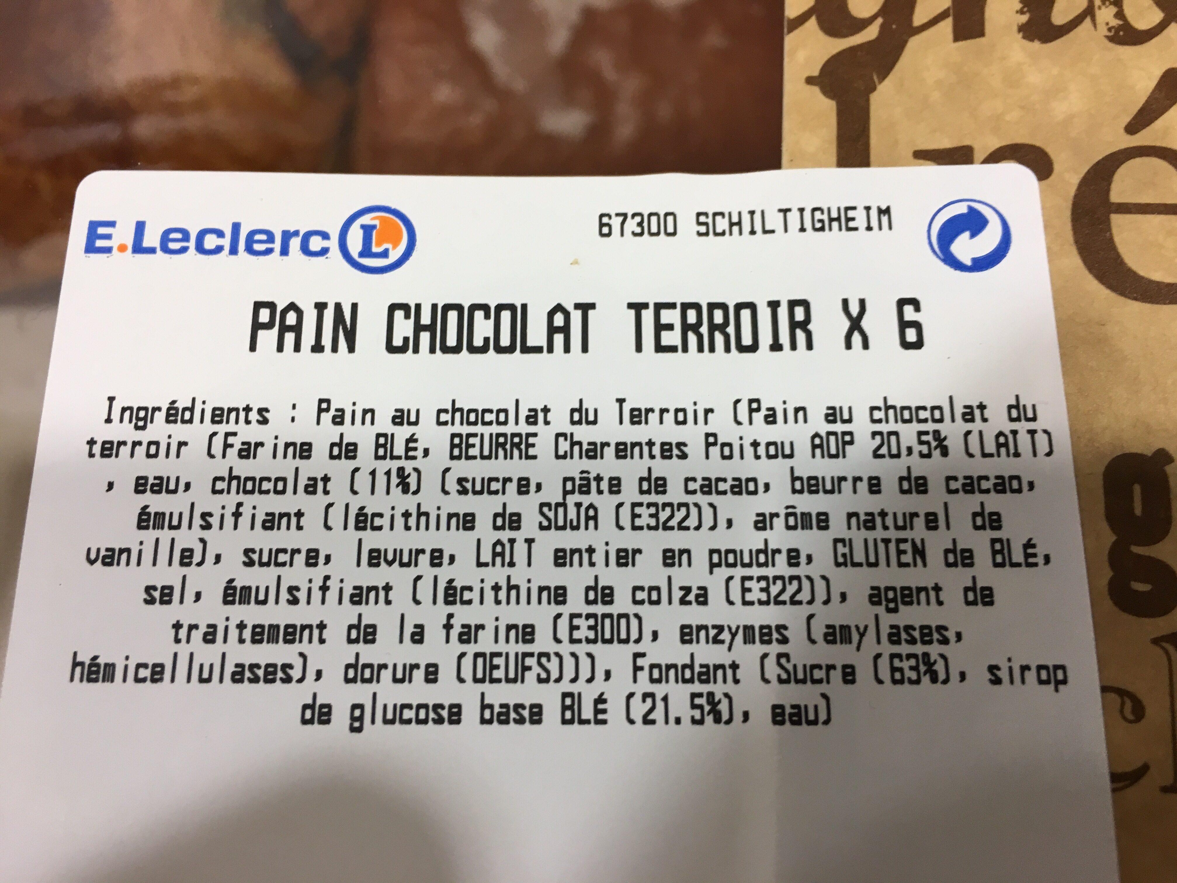 Pain au chocolat leclerc - Ingredients