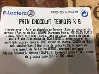 Pain au chocolat leclerc - Nutrition facts