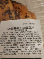 croissant chocolat - Ingredients