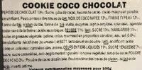 Cookie coco chocolat - Ingrédients