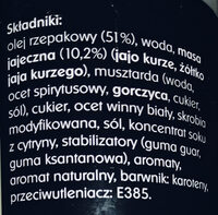Majonez stołowy - Ingredients