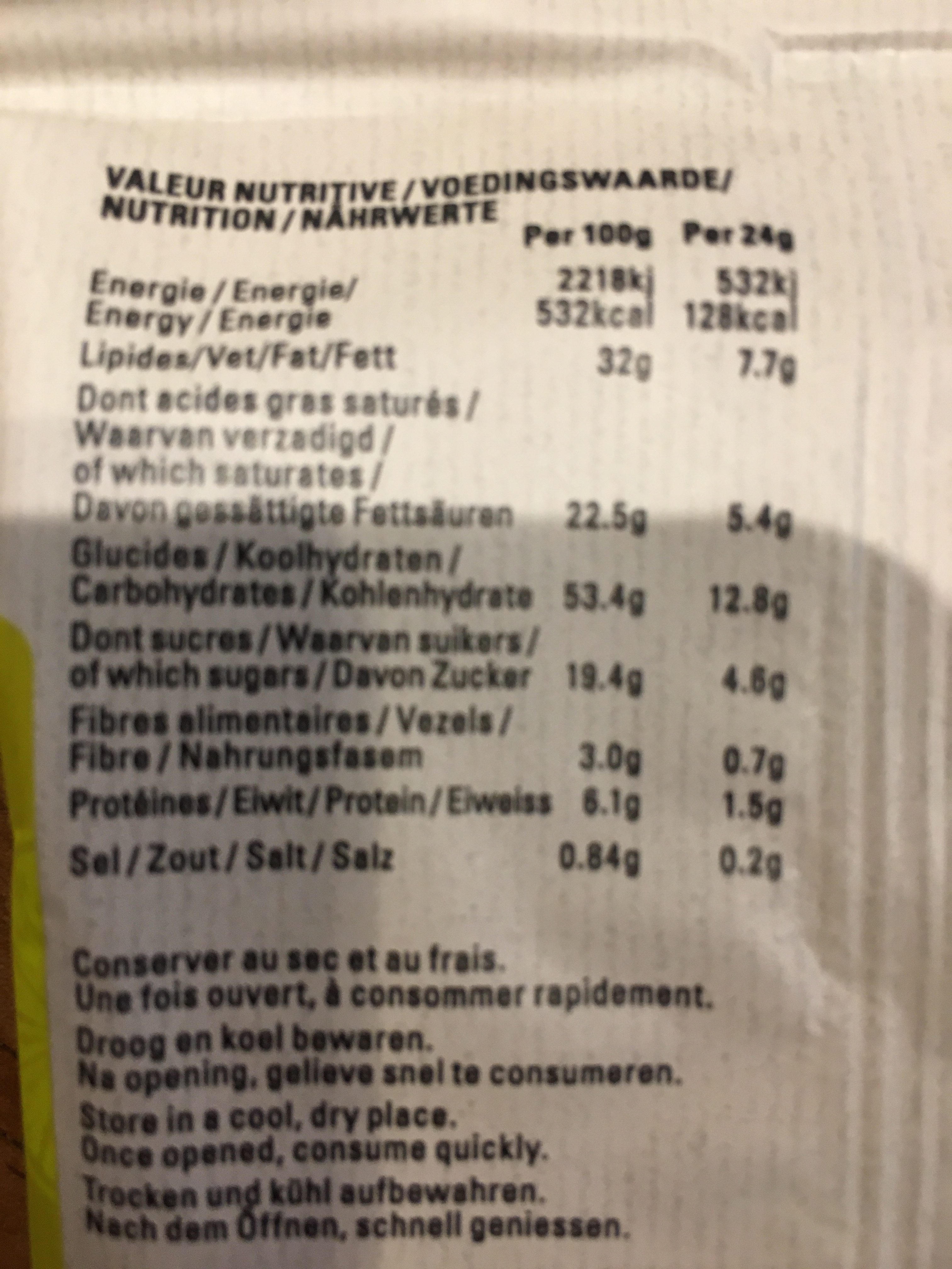 Biscuit citron gingembre - Ingrediënten - fr