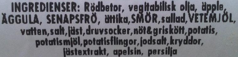 ICA Supermarket Eksjö Bag köttbulle/rödbe - Ingrédients