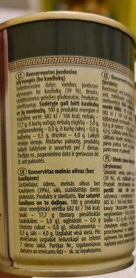 Olives Black pitted - Valori nutrizionali - en
