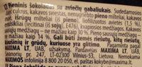 Pieninis šokoladas su aviečių gabaliukais - Ingredients - lt