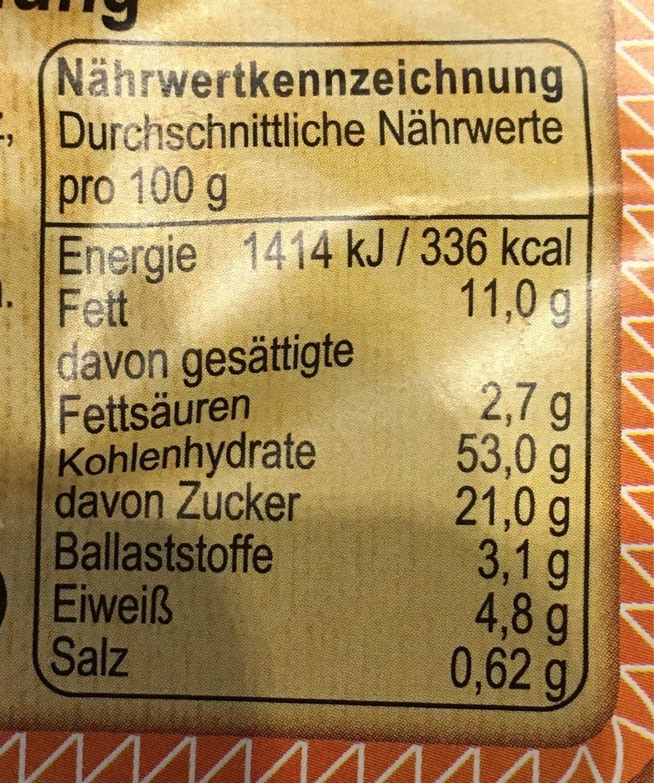 Nuss-Stollen - Informations nutritionnelles - fr