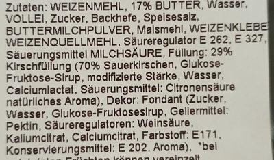 Kirschplunder (Butterplunder) - Ingredients