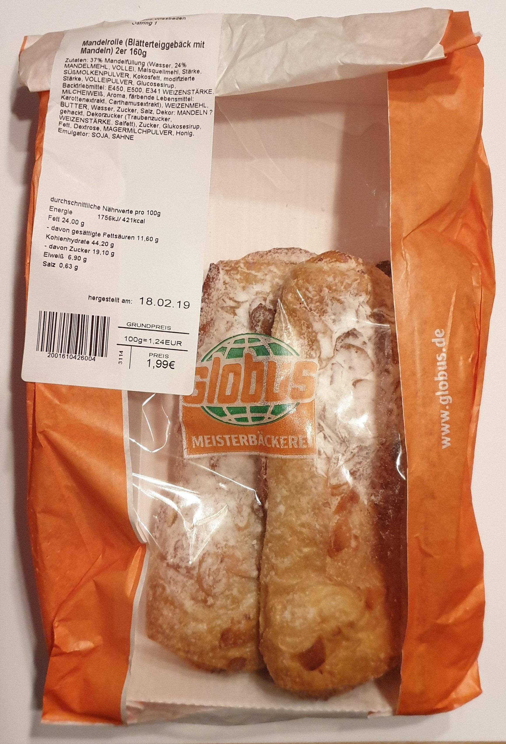Mandelrolle (Blätterteiggeböck mit Mandeln) - Product - de