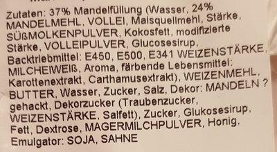 Mandelrolle (Blätterteiggeböck mit Mandeln) - Ingredients - de