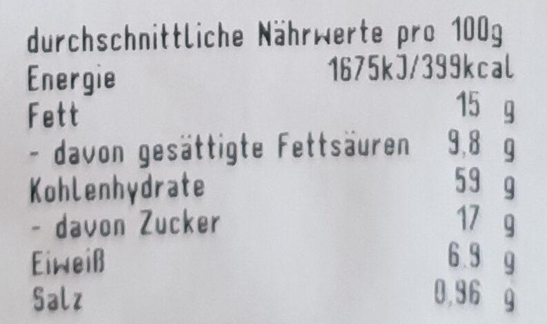 Butterstreuselkuchen - Nutrition facts - de