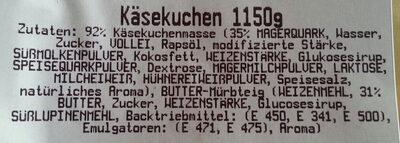 Käsekuchen - Ingredients