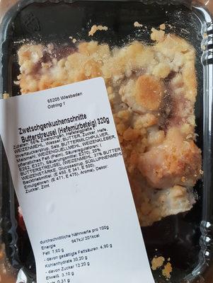 Zwetschgenkuchenschnitte Butterstreusel - Produkt
