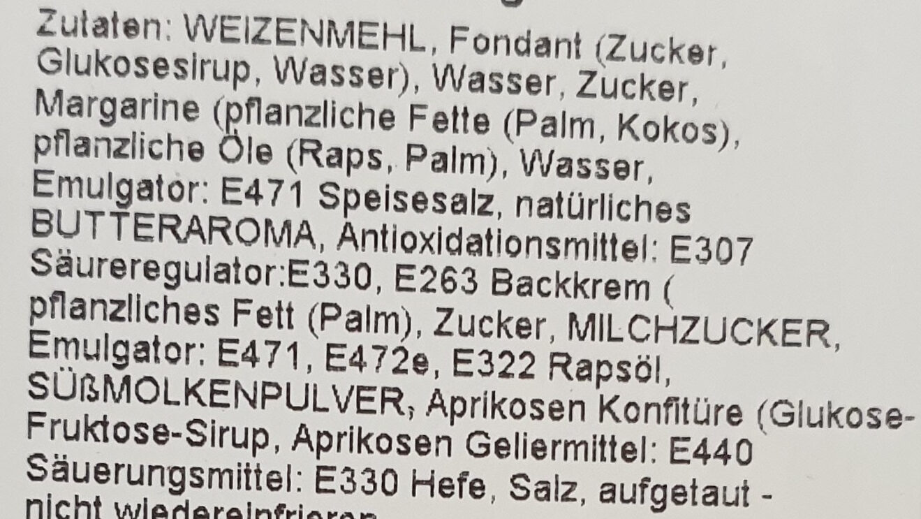 Streuselchen 2er - Inhaltsstoffe - de