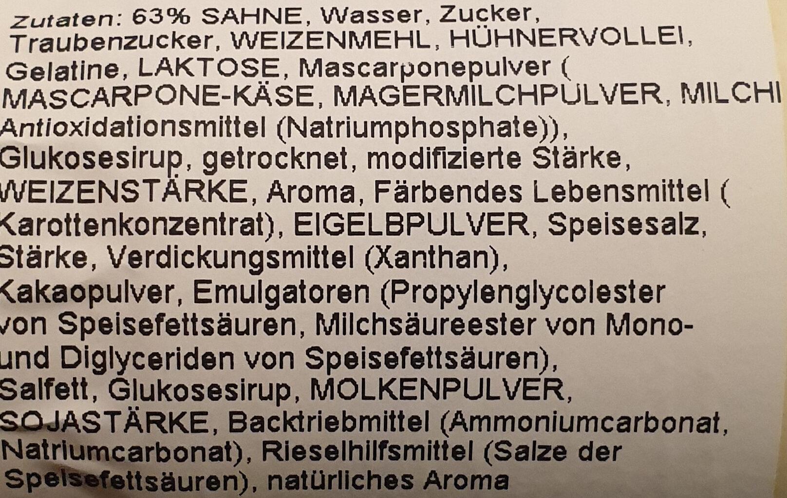Tiramisu-Sahnetorte to Go - Ingredients - de