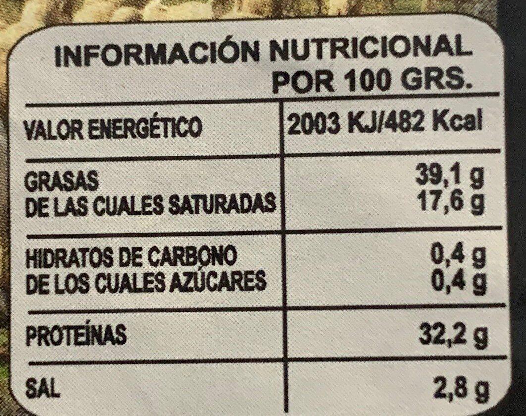 Queso viejo mezcla - Información nutricional - es