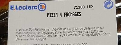 Pizza 4 fromages - Ingrediënten - fr