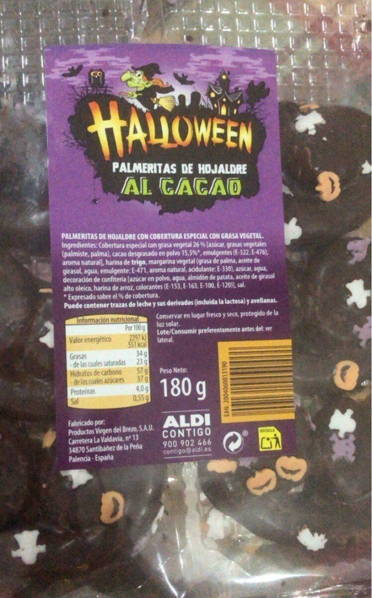 Halloween Palmeritas al cacao - Produit - es