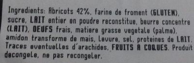 Tarte grillé abricot - Ingrédients - fr