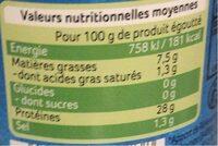 Filet de thon a l huile d olive - Valori nutrizionali - fr