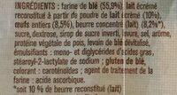 10 pains au lait Maître Jean-Pierre - Ingrediënten