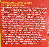 Fruit crunchy - Ingrediënten - nl