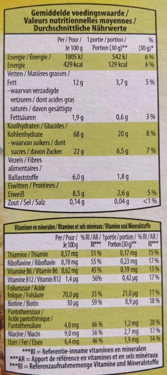 Fruit crunchy - Voedingswaarden - fr