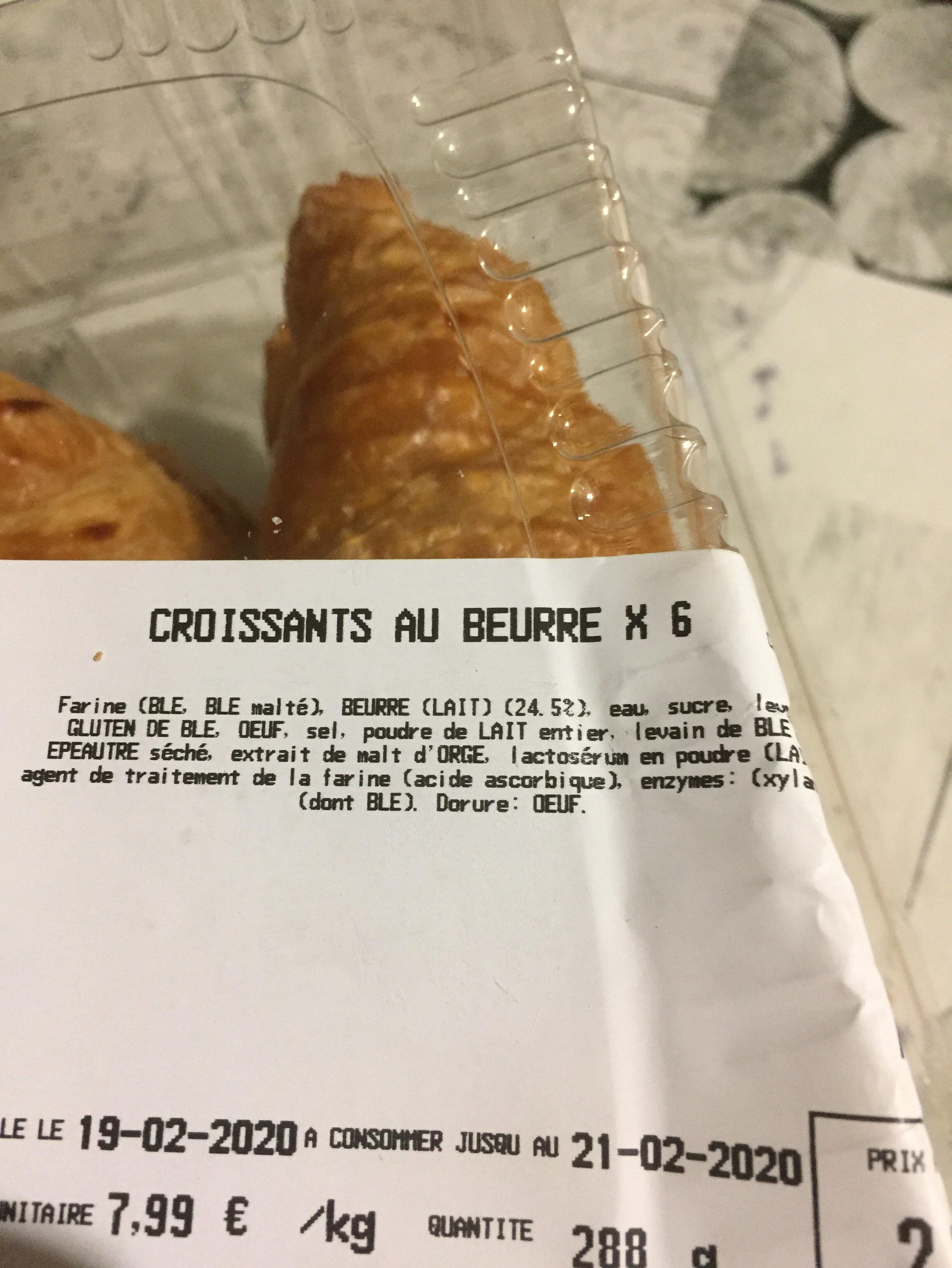Croissant au beurre - Ingrédients