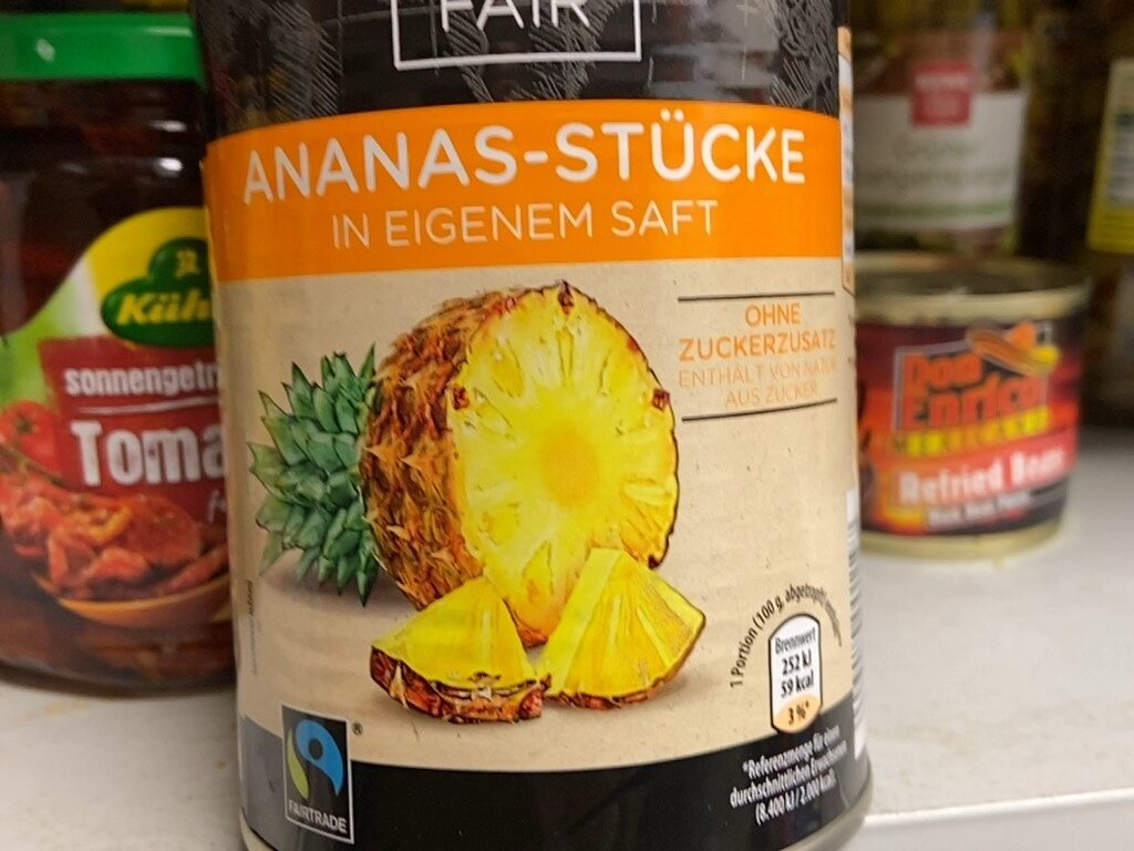 Ananas-Stücke in eigenem Saft - Product - en