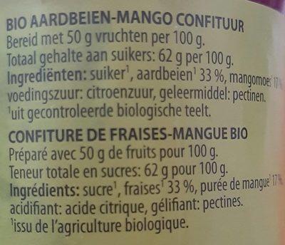 Confiture fraise mangue - Ingredients