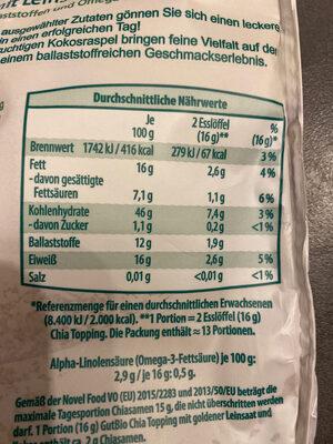 Chia Topping - Ingrediënten - de