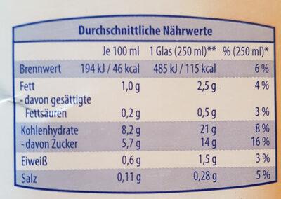 Hafer-Drink Natur - Nutrition facts - de