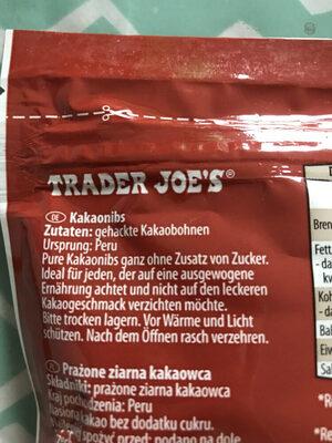 Kakaonibs - Ingredients - de