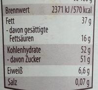 Mandel Nugat Creme - Voedingswaarden