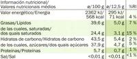 Cioccolato fondente - 60% cacao - Información nutricional - es