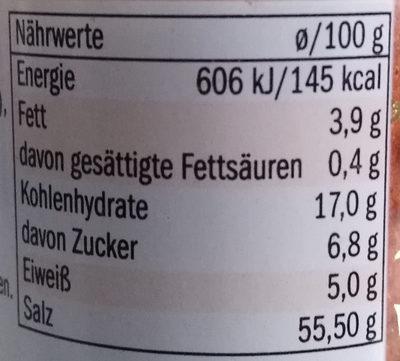 Sazonador para pollo - Nutrition facts