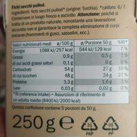 Fichi secchi di Turchia - Valori nutrizionali - it