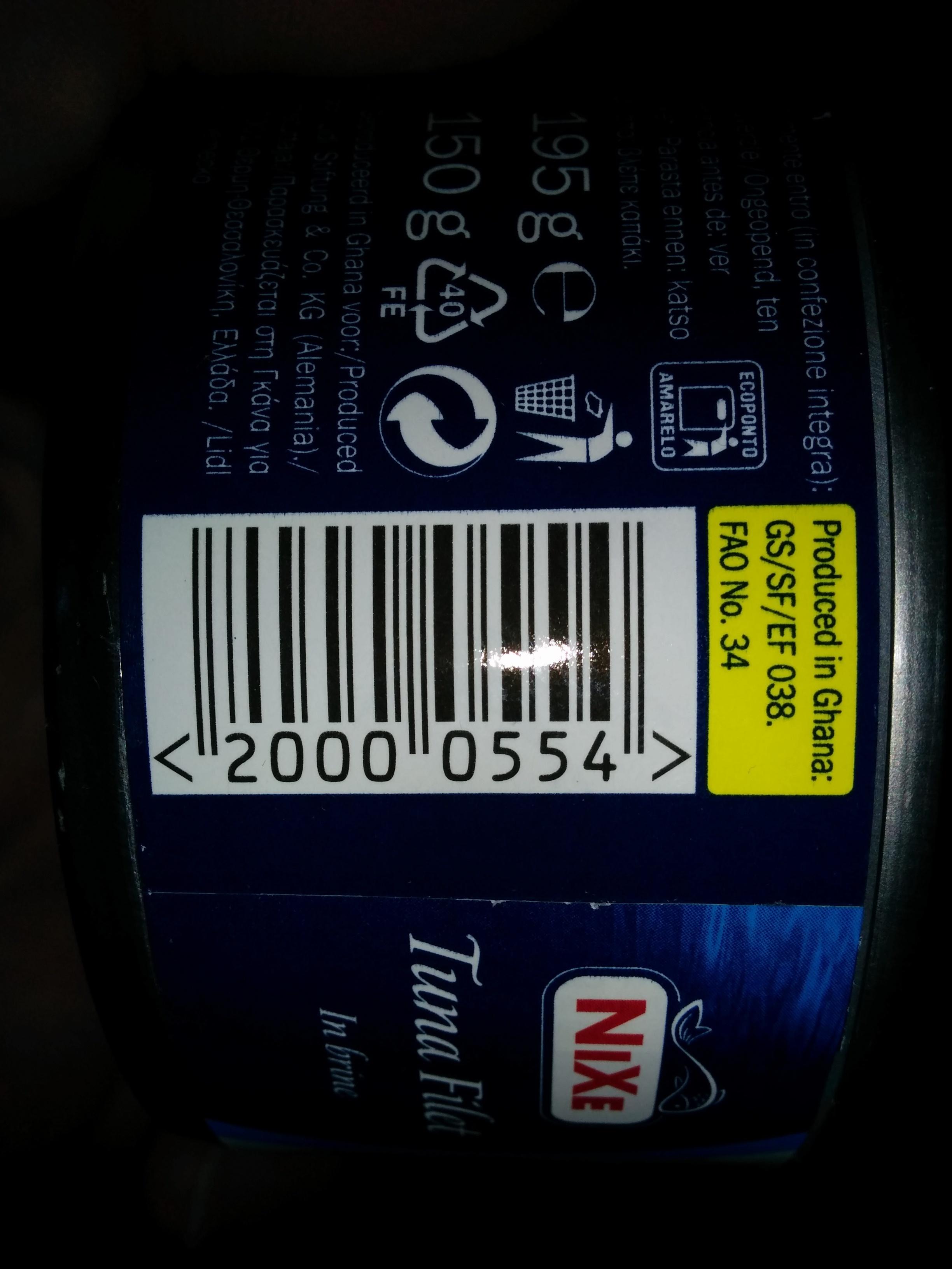 Filet de thon au naturel - Product