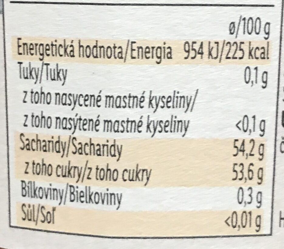 Confiture d'abricots - Výživové údaje - cs